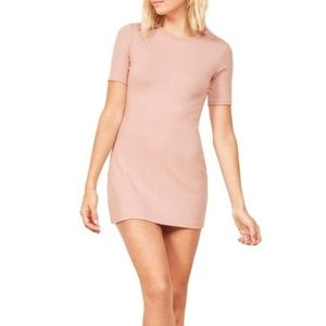 NWT Reformation Gigi Dress In Blush Pink